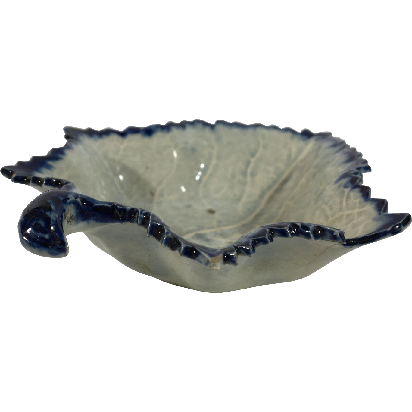 Feather Edge Leave Dish  C. 1850