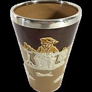 Royal Daulton Cup, Sterling Silver Lip,  Hallmarked 1901, London
