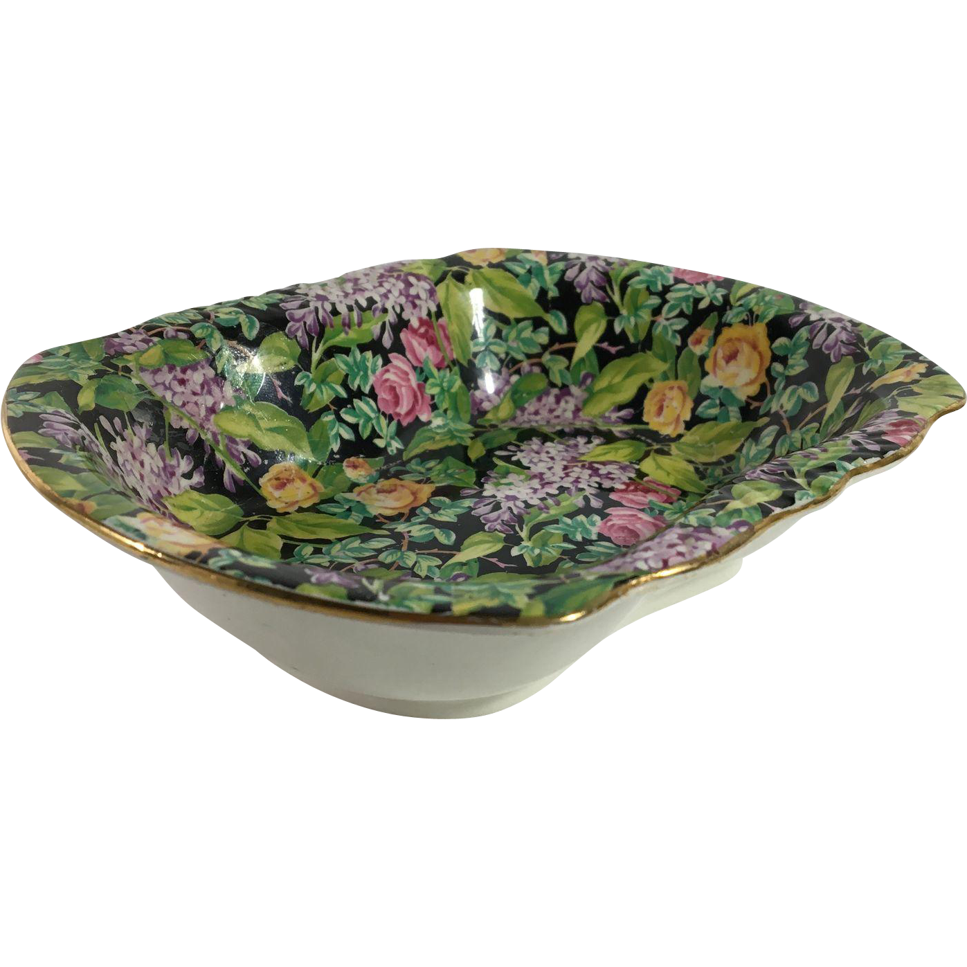English Chintz Bon Bon or Pin Dish, 'Lord Nelson Pattern
