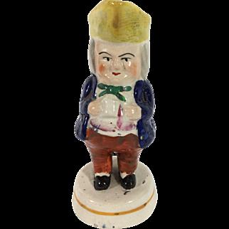 English Toby (Prestopan) Condiment Figurine, C.1850