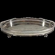 English Silver Plated Salver, 1950