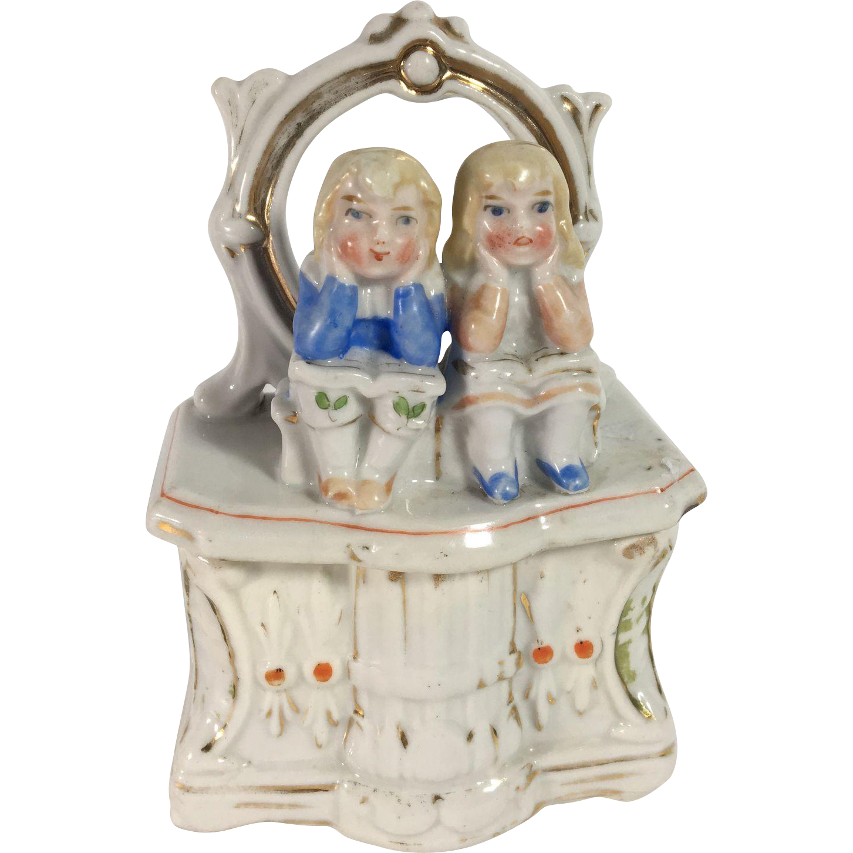 C.1890 Dresser Box Fairing with Children Sitting on Boxes