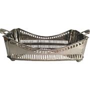 English Silver Plated Vegetable or Bread Server. c.1950