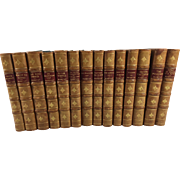 14 Captain Frederick Marryat (of the Royal Navy) Novels Hard Bound in Leather and Cloth, 1864 - 1865