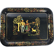 Tole Tray with Stenciled Design