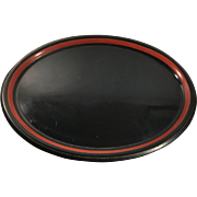 Large English Oval Serving Tole Tray
