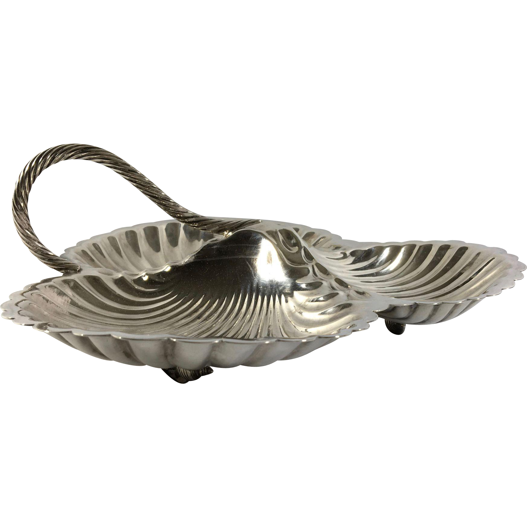 English Silver Plated Serving 'Shells'