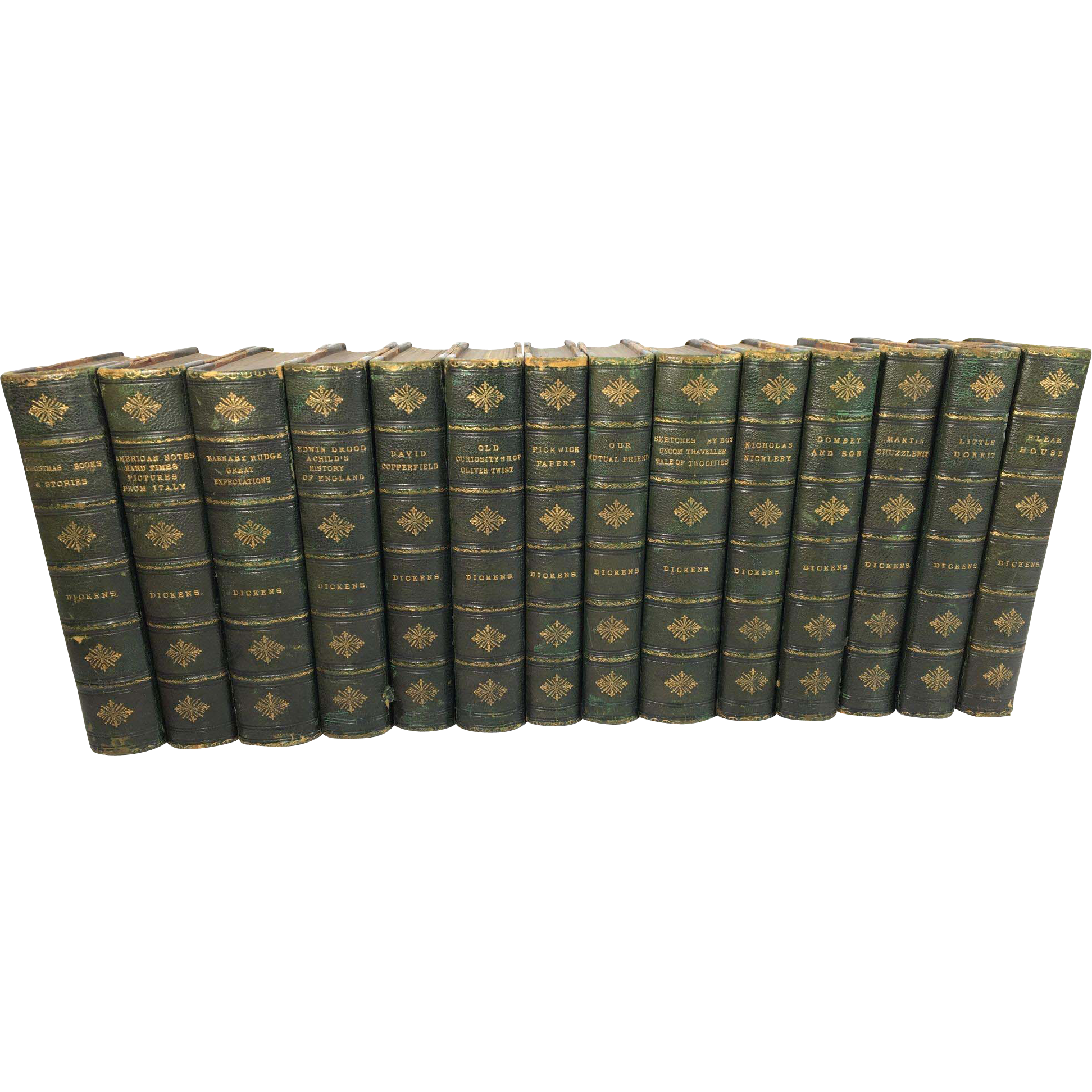 14 Volumes of Novels by Charles Dickens, Chapman and Hall, Charles Dickens Edition, c. 1870