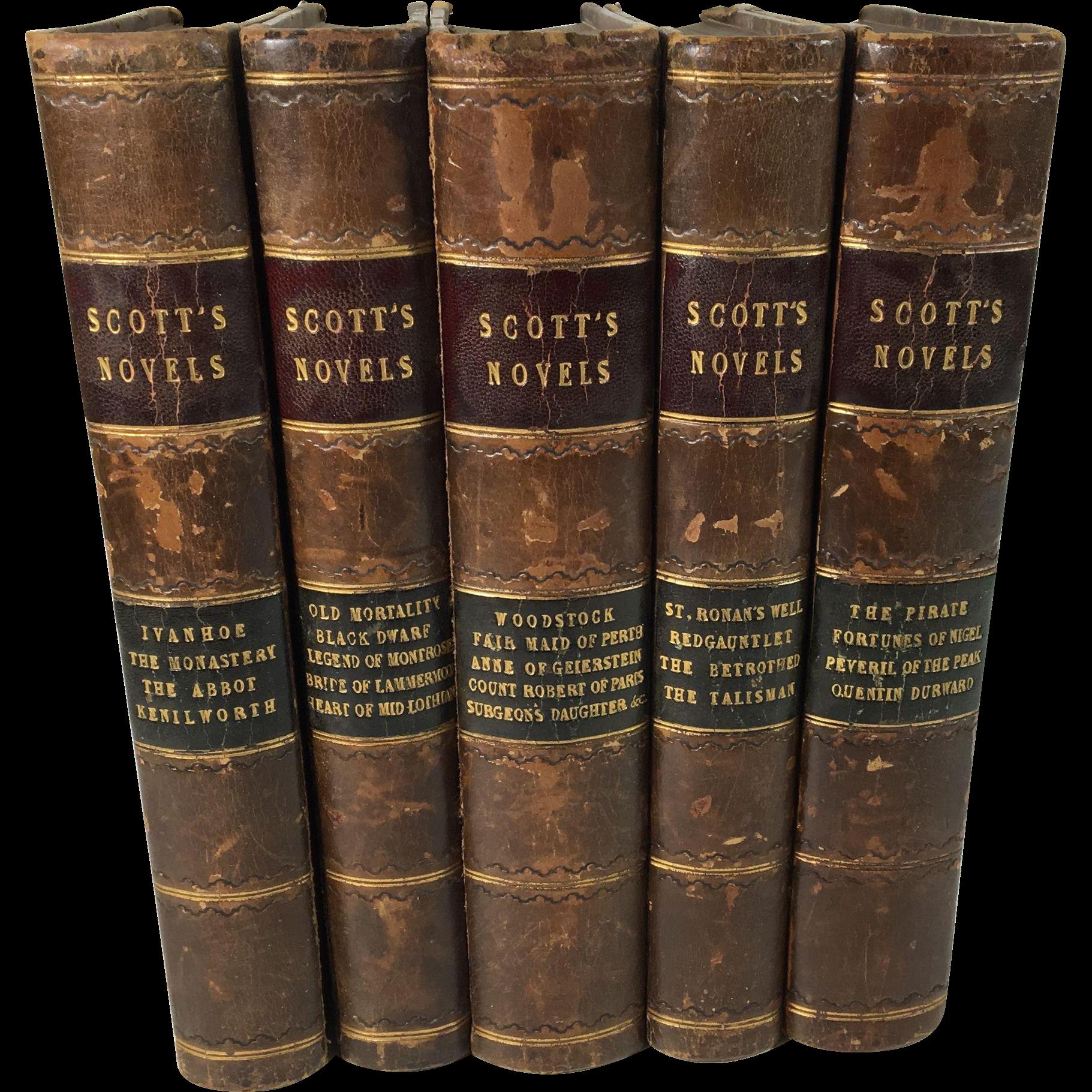 The Works of Sir Walter Scott, 21 Novels in Five Volumes, 1868, Edinburgh