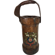 Shot or Cordite Leather Bucket, with Coat of Arms, English, c. 1900