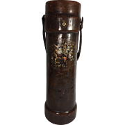 Cordite Leather Bucket, with Coat of Arms, English, c. 1900