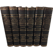 The Royal Natural History, Leather Bound, Illustrated with Color Plates & Engravings, Complete Set of Seven Volumes, 1893-94