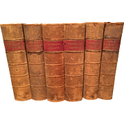 Law Books: 6 Volumes of British Exchequer Reports, Numbered 5 - 10