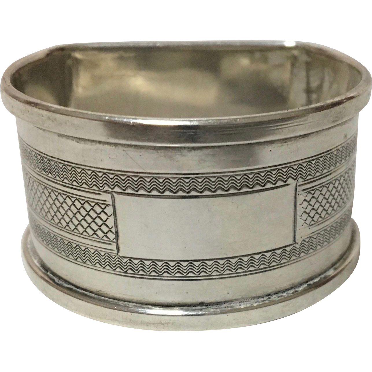 English Sterling Silver Napkin Ring, Hallmarked Birmingham, 1949, Henry Griffith & Son