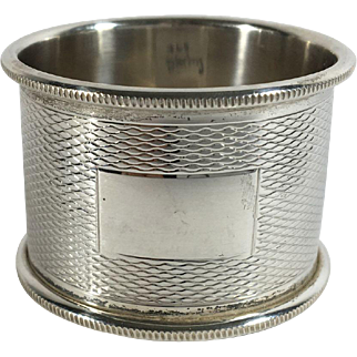 English Sterling Silver Hallmarked Napkin Ring