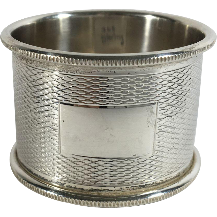 English Sterling Silver Hallmarked Napkin Ring