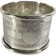 1925 English Sterling Silver Napkin Ring