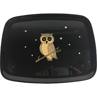 Owl Couroc  Serving Tray