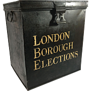 Tole Painted Metal Ballot Box, London Borough Elections