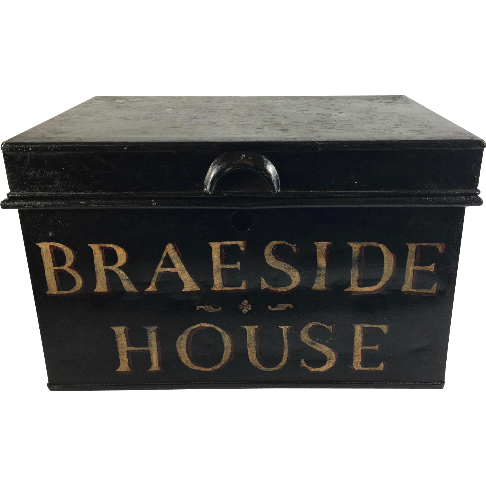 Tole Box for Estate Papers & Land Deeds, Braeside House, UK
