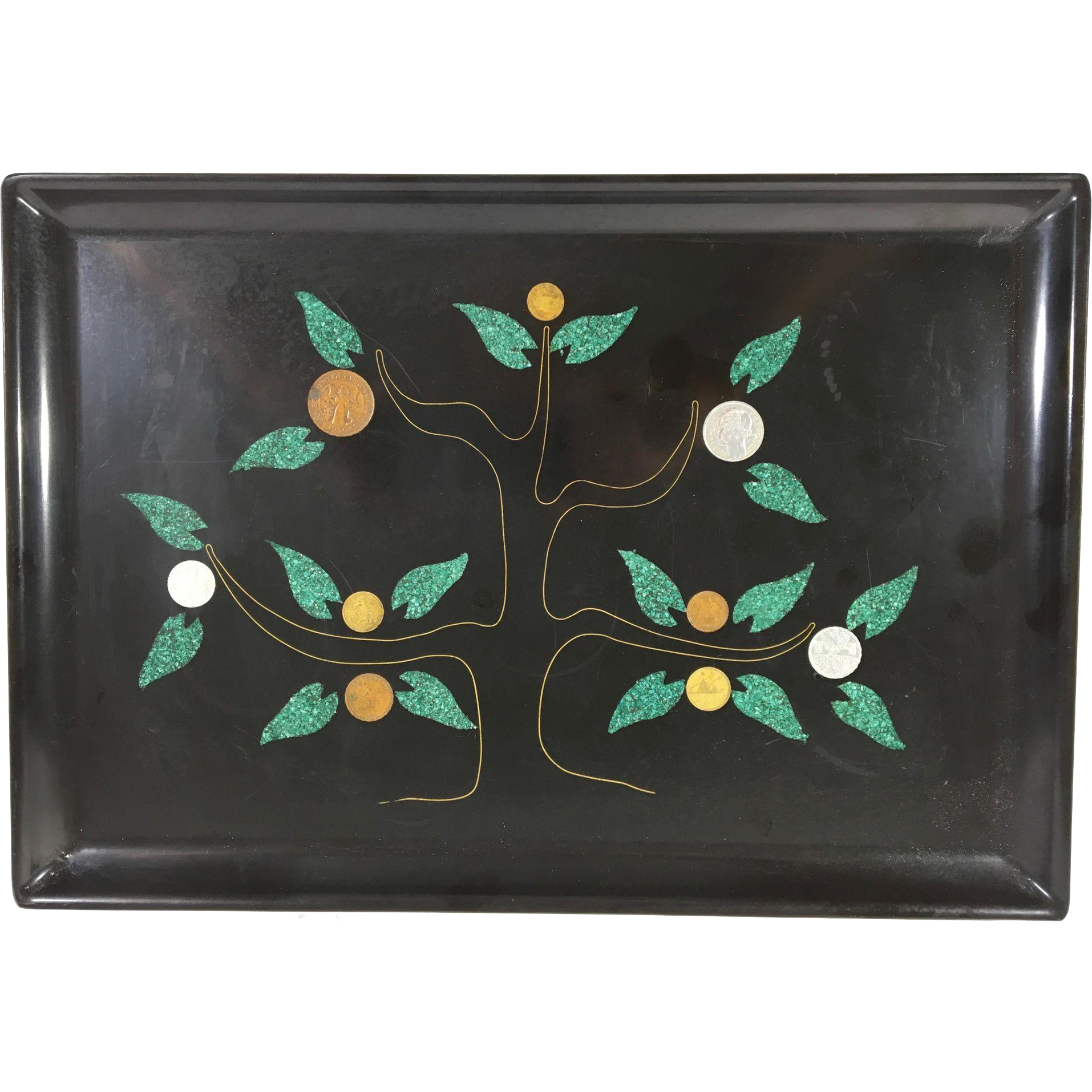 Vintage Couroc Lacquer Tray