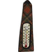 Tartan Ware Thermometer in Obelisk Style,  Prince Charles  C.1880