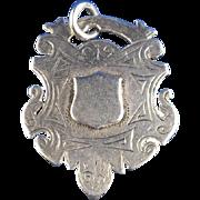 1899 English Sterling Silver Fob Award Medal