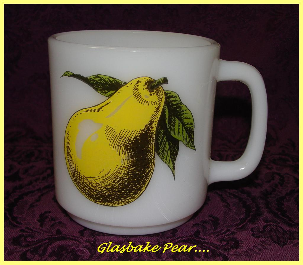 Glasbake Yellow Pear Mug