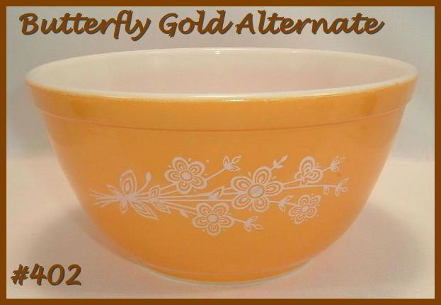 Pyrex Butterfly Gold Mixing Bowl 1 1/2 Qt