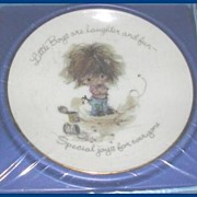 Collectible American Greetings Little Boys Plate