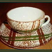 Blue Ridge Rustic Plaid Cup & Saucer
