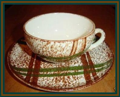 Blue Ridge Rustic Plaid Cup & Saucer