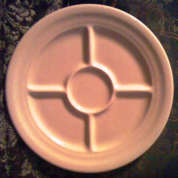 Inca Ware Shenango China Wagon Wheel Grill Plate