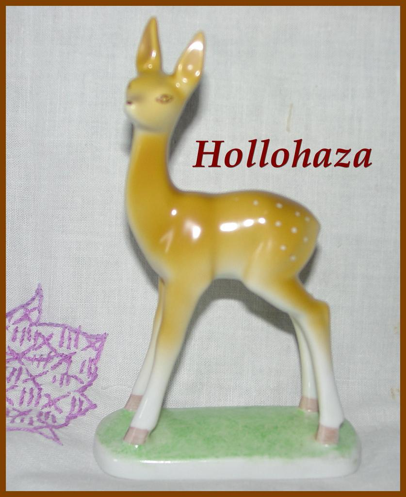 Hollohaza Porcelain Deer Figurine