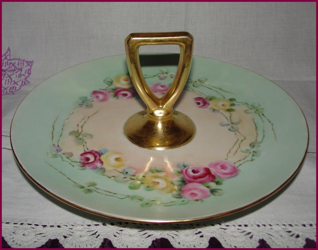 Hand Painted Tidbit Serving Tray From Anniesavenue On Ruby