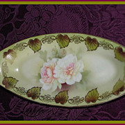 RS Germany Reinhold Schlegelmilch Tillowitz Porcelain Celery Tray