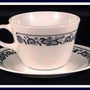 Pyrex®  Corelle Old Town Blue Cup & Saucer Set