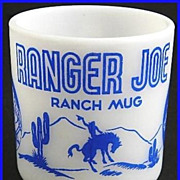 Hazel Atlas Ranger Joe Blue Kiddie Mug