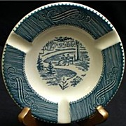 Royal China Currier & Ives Ashtray