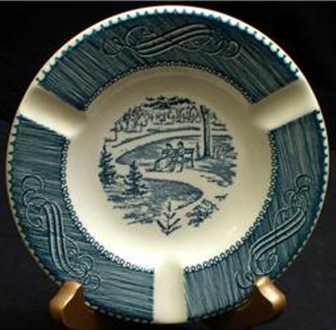 Royal China Currier & Ives Ashtray