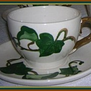 Metlox Pottery California Ivy Poppytrail Cup & Saucer