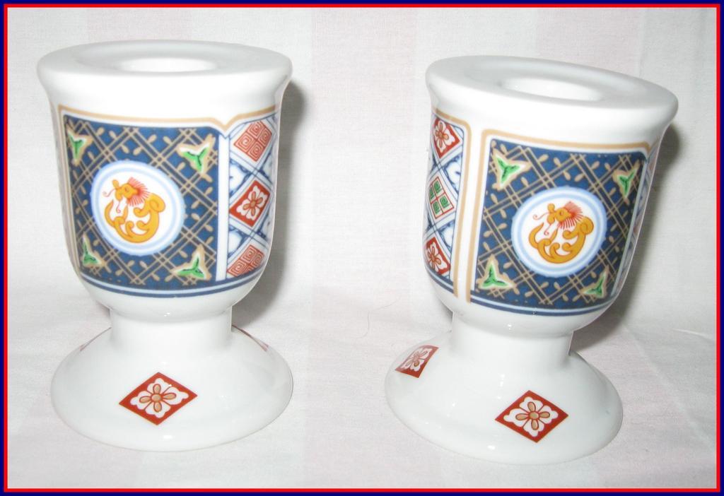 Georges Briard Grand Kabuki Candle Holders