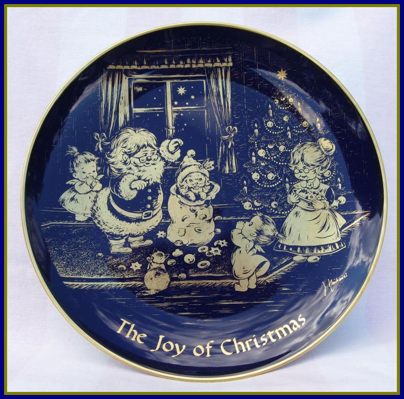 Joy of Christmas Collectible Lindner Kueps Bavaria Plate