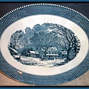 Royal China Currier & Ives Oval Serving Platter