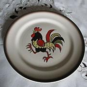 Metlox Poppytrail Red Rooster Dinner Plate