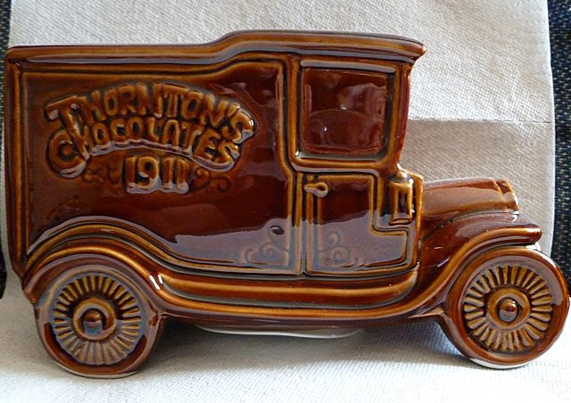 Wade Pottery Thornton S Chocolate Van Piggie Bank From