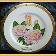 Gorham All American Rose Yankee Doodle Hybrid Tea Plate