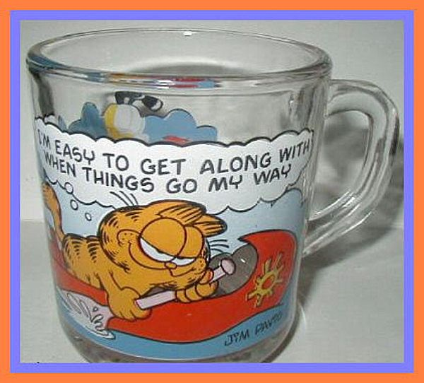 Hocking Garfield McDonald's Mug Easy to Get Along With