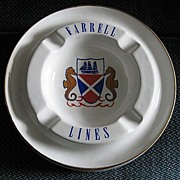 Farrell Lines Ashtray, Shipping Memorabilia