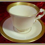 Syracuse China Diane Demitasse Cup & Saucer